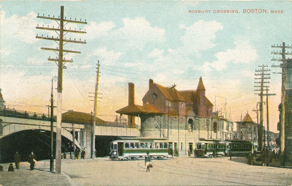 Roxbury Crossing showing Streetcars and Elevated Railways