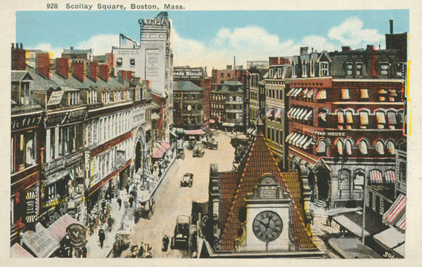 Bird's Eye view of Scollay Square