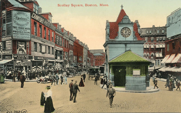 Scollay Square with Subway Station Head House