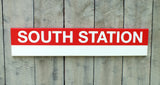Red Line Stations 3' Wood Sign