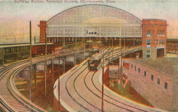 Sullivan Square Terminal Station showing the Elevated Railways