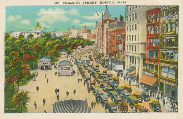 Tremont Street with Entrances to Subway