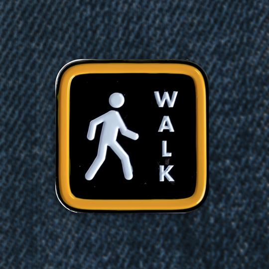 Pedestrian Sign Enamel Pin