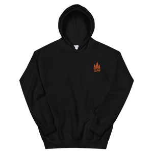 Black Orange Forest Hoodie