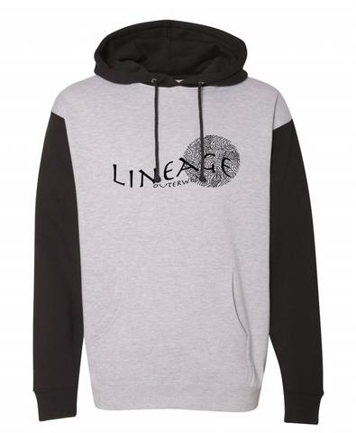 Lineage grey and black hoodie
