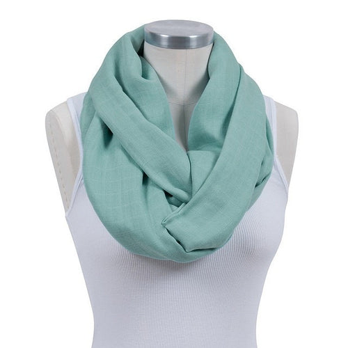 2-in-1 infinity breastfeeding scarf Ultra soft and breathable Front-to-back nursing cover Stylish & lightweight