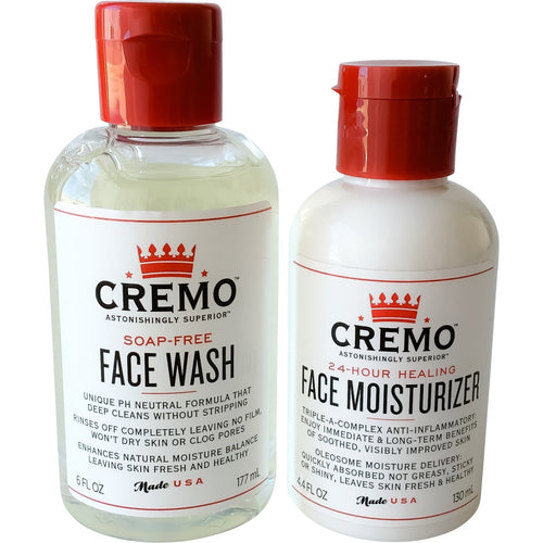 Cremo Company Face Wash and Face Moisturizer Combo