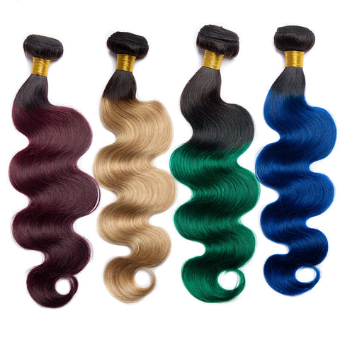 Body Wave Ombre Color Bundles