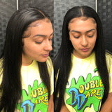 Straight Frontal with Pre-plucked Hairline