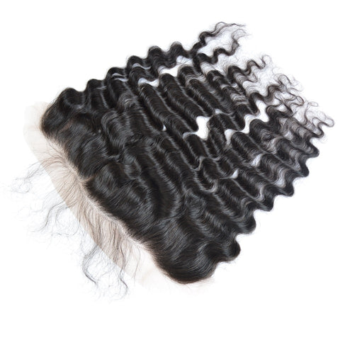 Loose Deep Ear to Ear Lace Frontal Closure 13x4 With Baby Hair Frontal