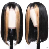 Lace Front Wig W/ #27 Highlight Wig