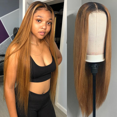 150% Straight 1b/27 Ombre Human Hair Wig