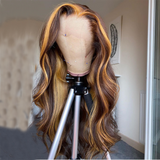 Omber Highlight Non-Remy Hair Lace Frontal Human