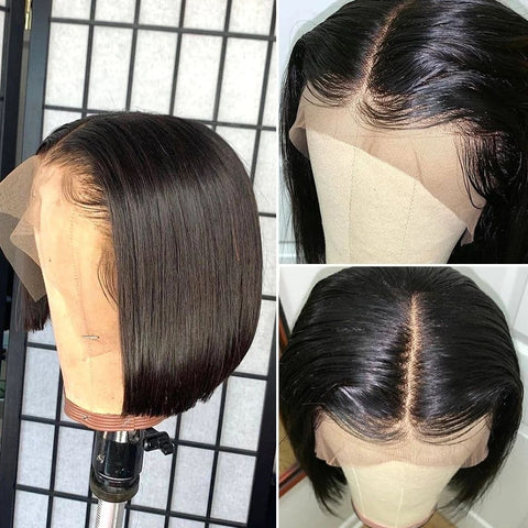 Brazilian Bob Lace Wig Straight