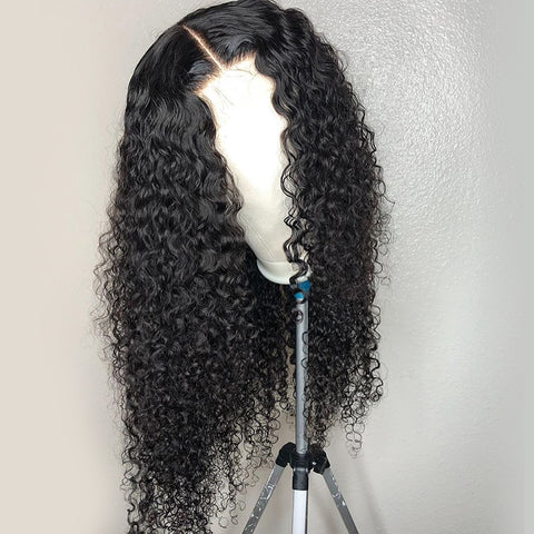 Deep Wave 4x4  Lace Front Human Hair Wig