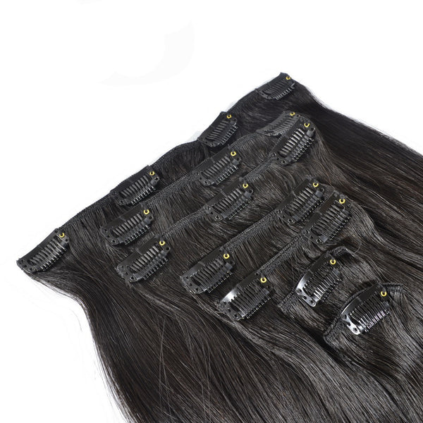 7Pcs/Set  Brazilian Straight Virgin Hair Clip-ins