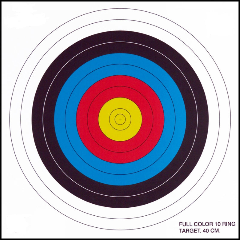 .30-06 10 Ring Paper Target 100 Count