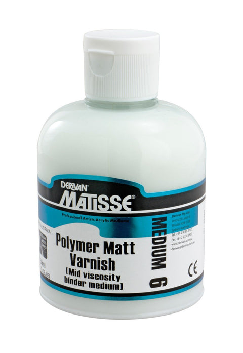 Derivan - Polymer Matt Varnish - 250mL