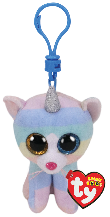Beanies Boos - Clips - Heather Cat with Horn
