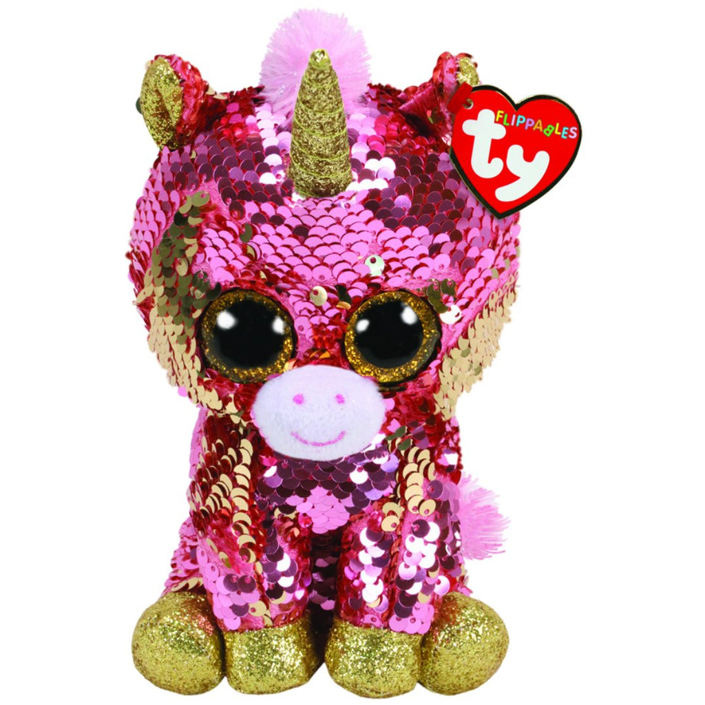 """Unicorn Changing Sequins 6/"""" Beanie Boos 2019 NEW IN HAND Ty FLIPPABLES ~ PIXY"""