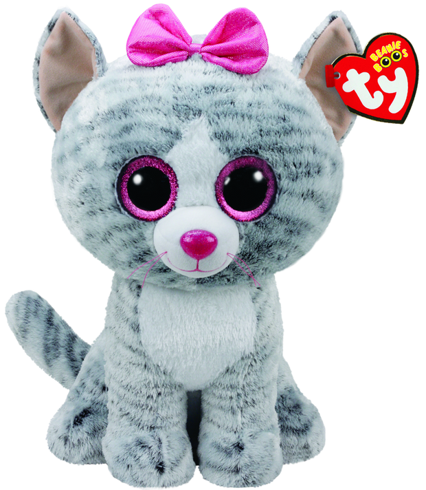 Beanie Boos Large Kiki Grey Cat