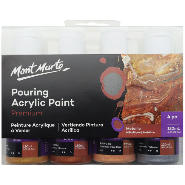 Pouring Acrylic 120ml 4pc - Metallic