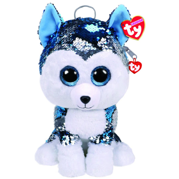 Beanie Boos - Fashion Sequin Backpack - Slush Husky