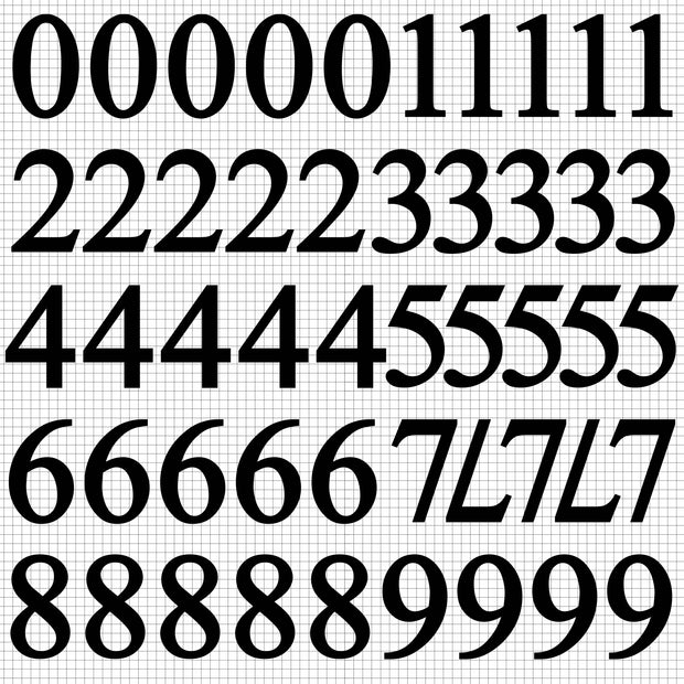 Number Stickers - Ebony