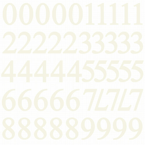 Number Stickers - Ivory