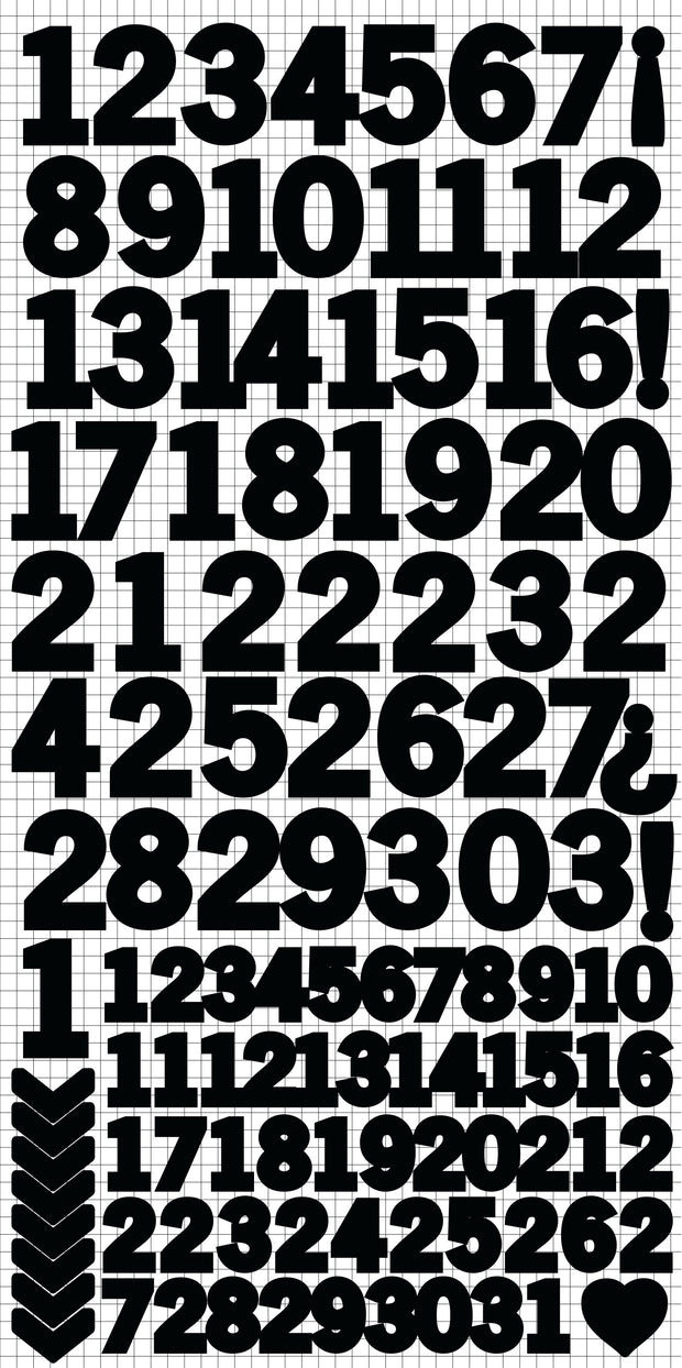 Number Stickers - Black