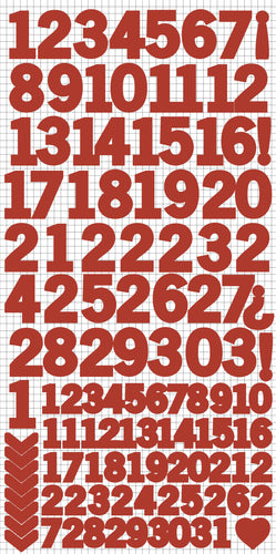 Number Stickers - Red