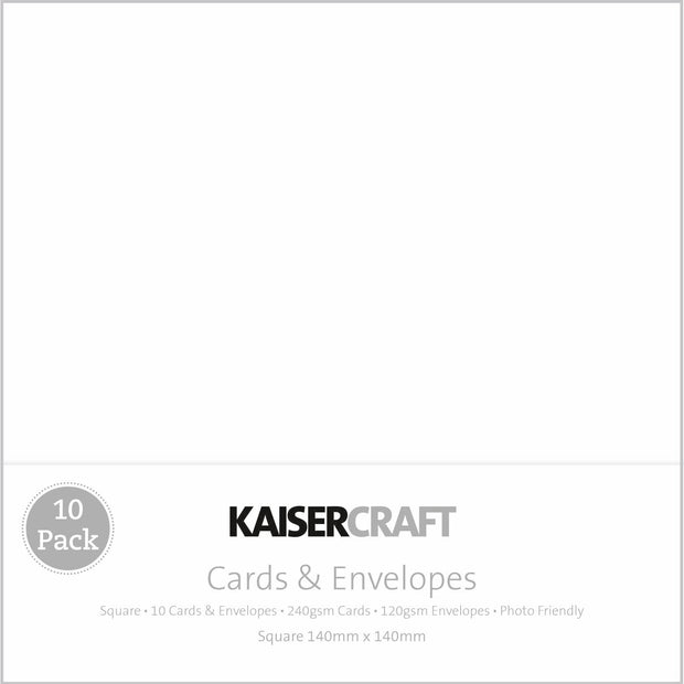 Square Card Pack - White