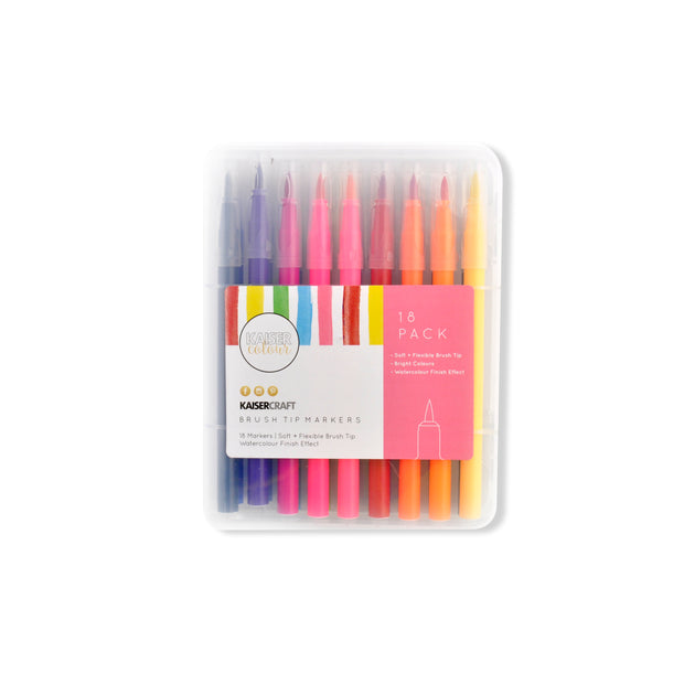 Kaisercolour Brush Tip Markers 18pk