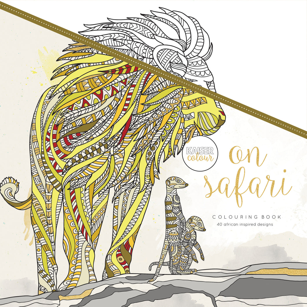 Kaiser Colour - On Safari Colouring Book