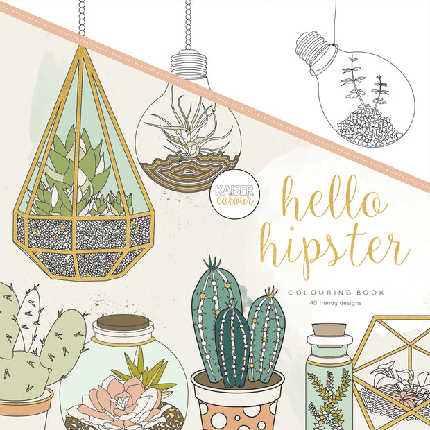Colouring Book - Hello Hipster