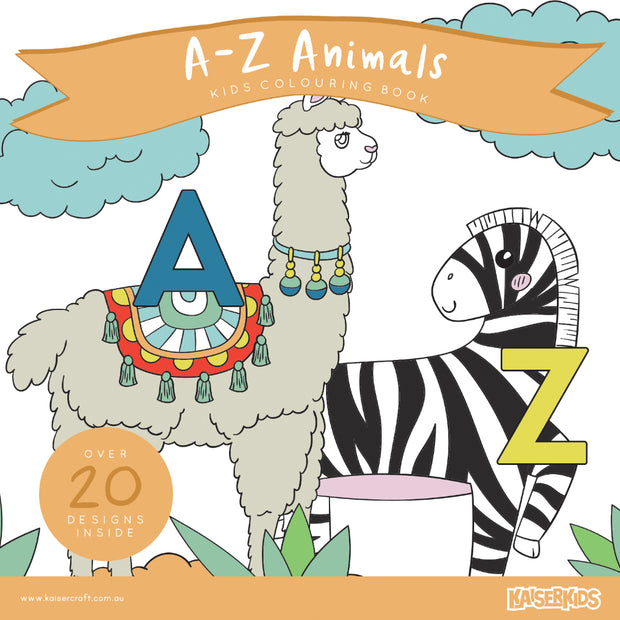 Colouring Book - A-Z Animals