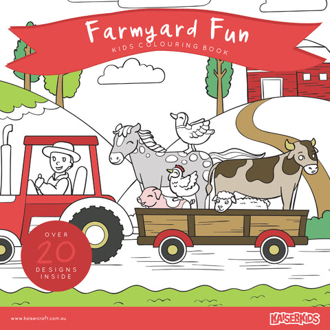 Colouring Book Farmyard Fun