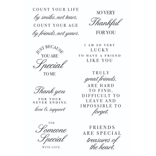 Clear Stamp - Friends Sentiments