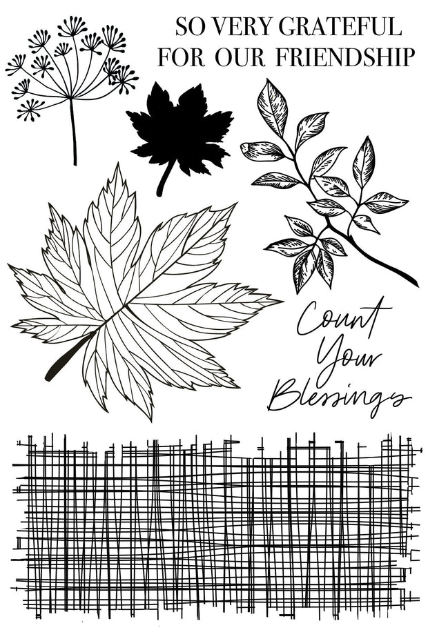 Fallen Leaves Clear Stamp