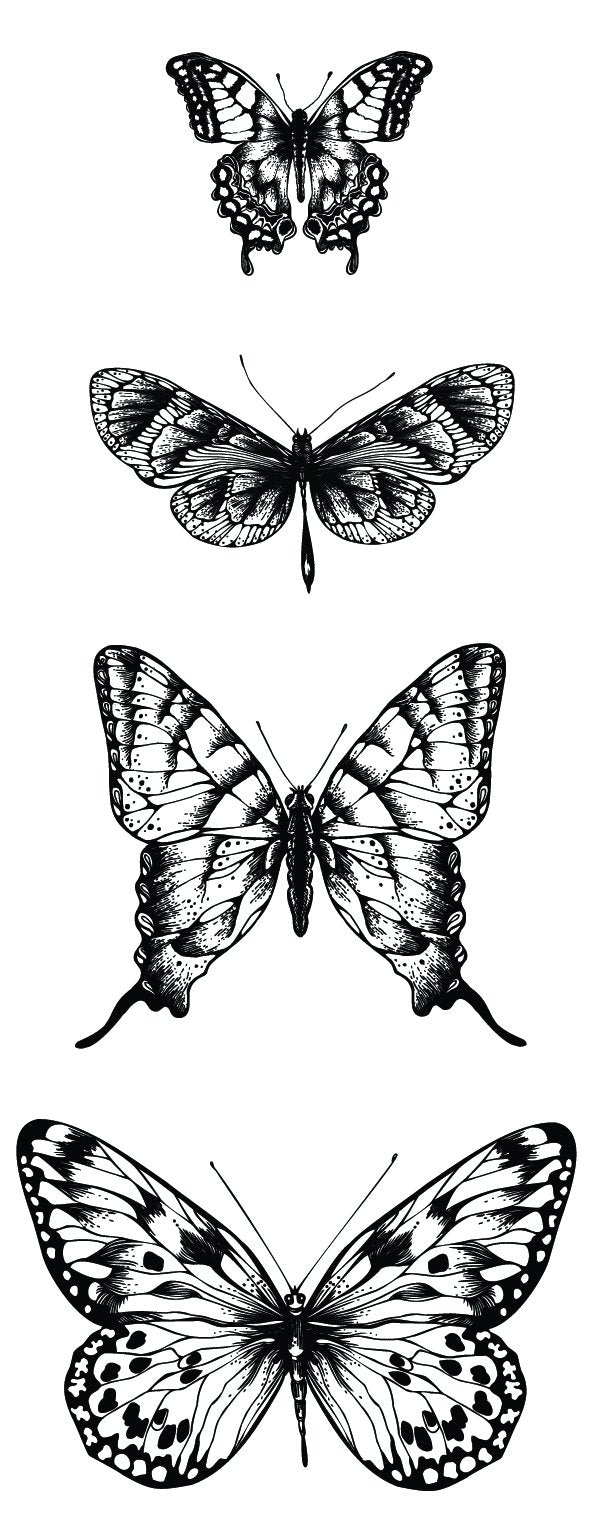 Texture Clear Stamp - Butterflies