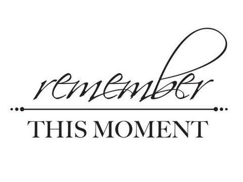 Mini Clear Stamp - Remember This Moment