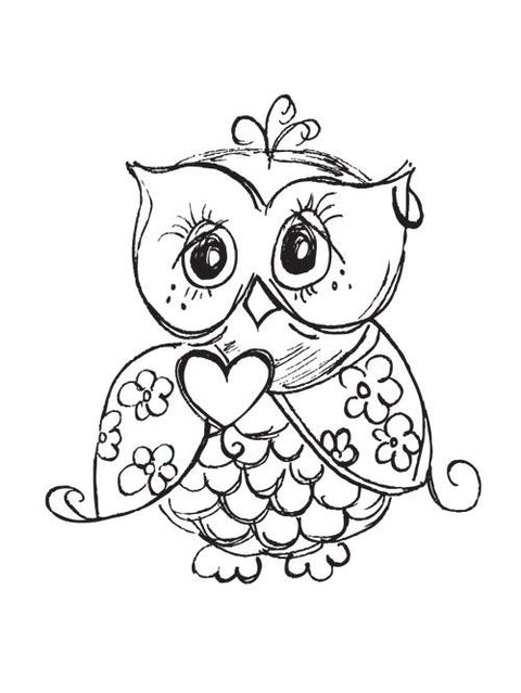 Mini Clear Stamp - Owl