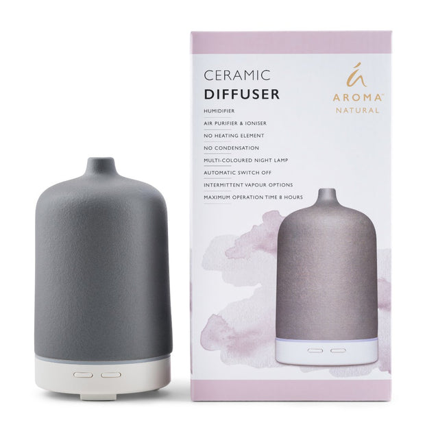 Aroma Natural - Ceramic Diffuser - Grey