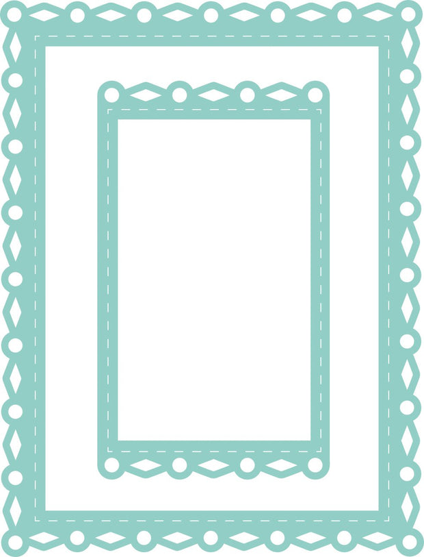 Decorative Die - Rectangle Fancy Frames