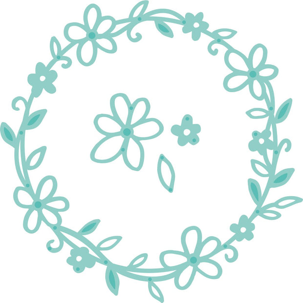 Decorative Die - Flower Wreath