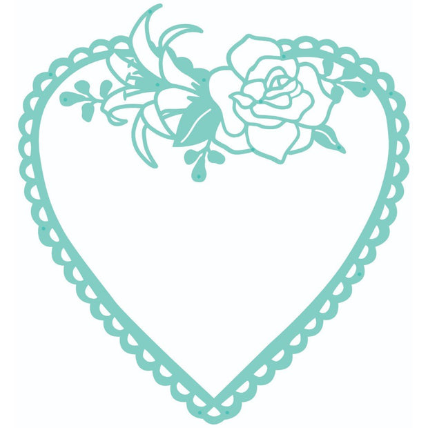 Decorative Die - Flora Heart Frame