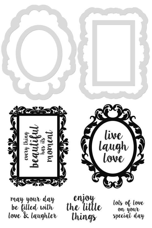 Decorative Die and Stamp - Decor Frames and Quotes