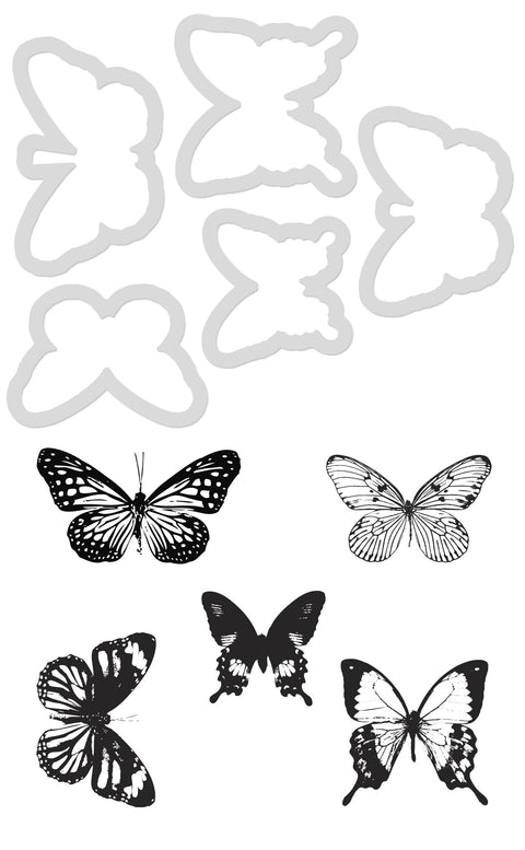 Decorative Die and Stamp - Butterflies