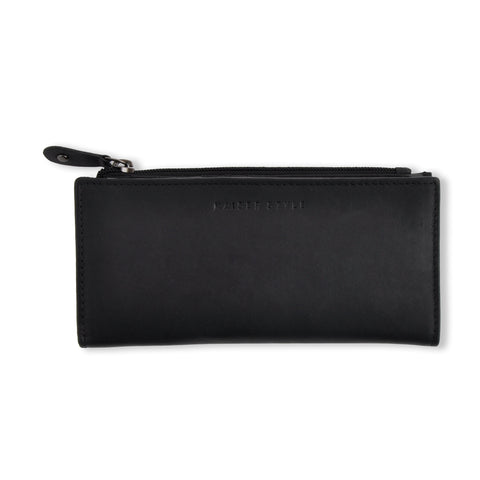 Womens Folded Wallet - BLACK