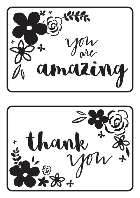 Embossing Folder - Mini Floral Cards